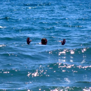John swimming